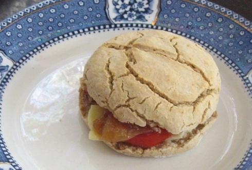 Gluten free soda bread sandwich