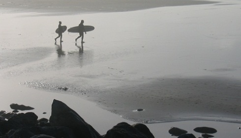 surfers in Lahinch