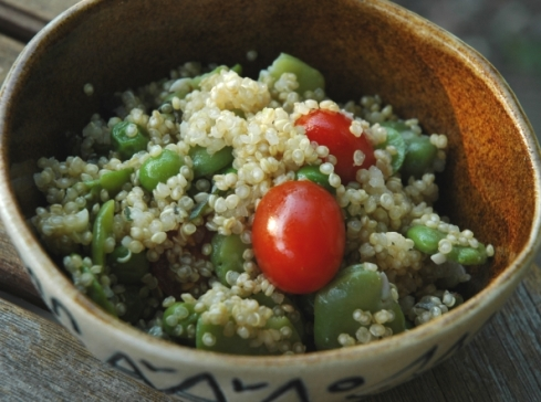 Quinoa Broad Bean Salad