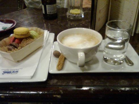 Coffee and macaroons!