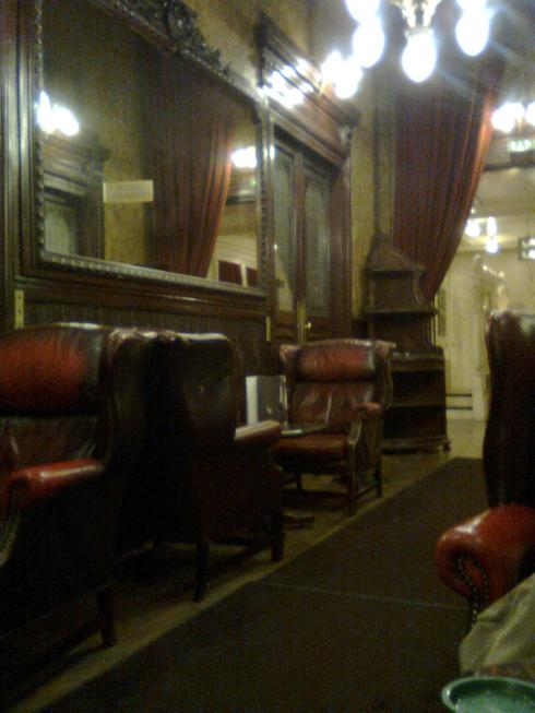 I loved the old, rather beaten up furniture in the nook where we drank our coffee.